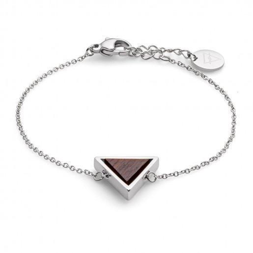 Kerbholz Kerbholz, Triangle Bracelet, sandalwood/silver