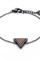 Kerbholz Kerbholz, Triangle Bracelet, walnut/black
