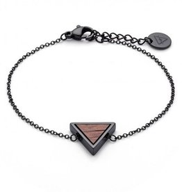 Kerbholz Kerbholz, Triangle Bracelet, walnut/black