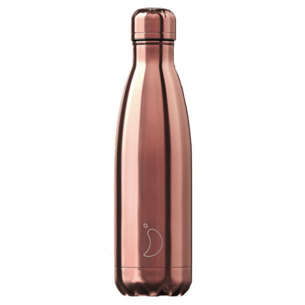 Chilly's Chilly's Bottles, Chrome Rose Gold, 500ml