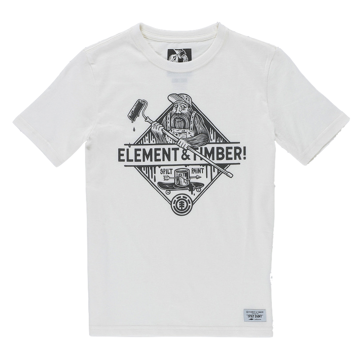 Element Clothing Element, Rolling Tee, off white, XL