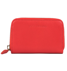 Lost & Found Accessories Lost & Found, Mini Reissverschluss Portemonnaie, tangerine red