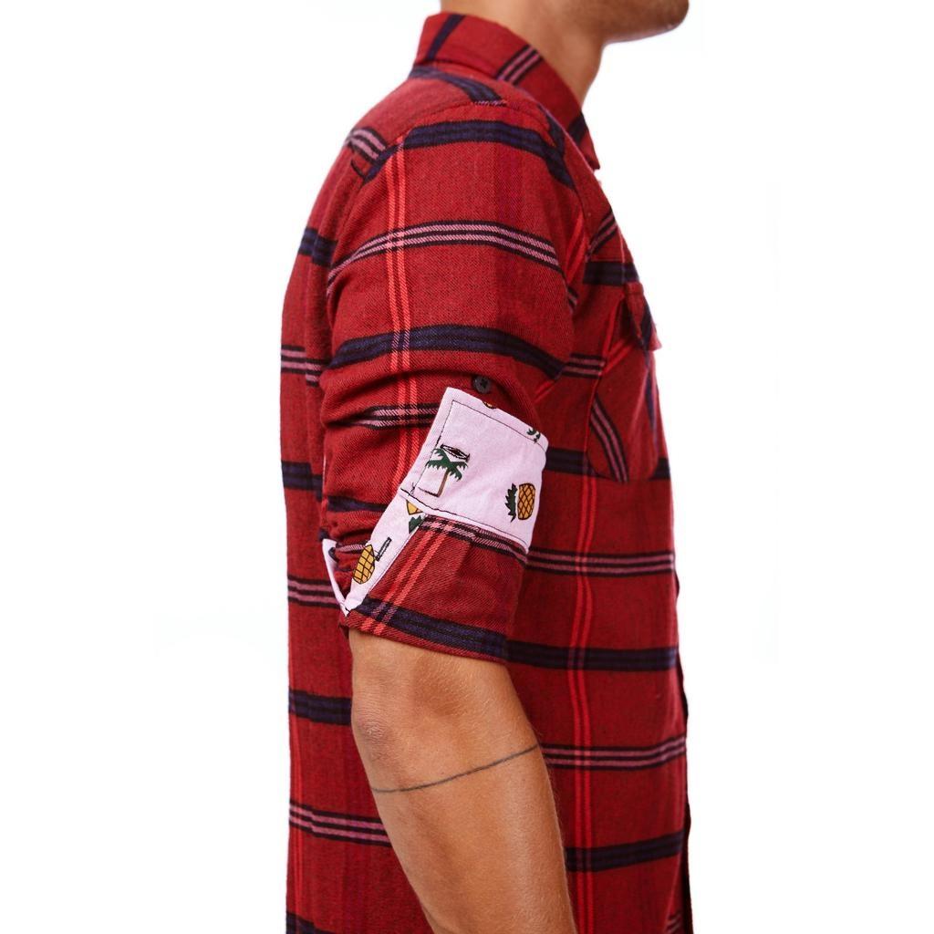 Einstoffen Einstoffen, Nick Sax Hemd, rot, M