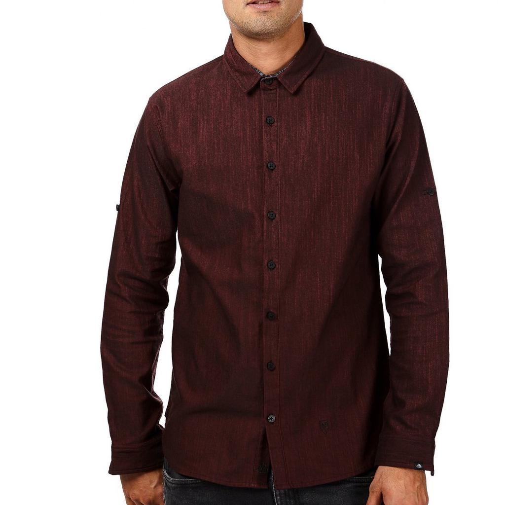 Einstoffen Einstoffen, Theodore Logan Hemd, bordeaux, XL