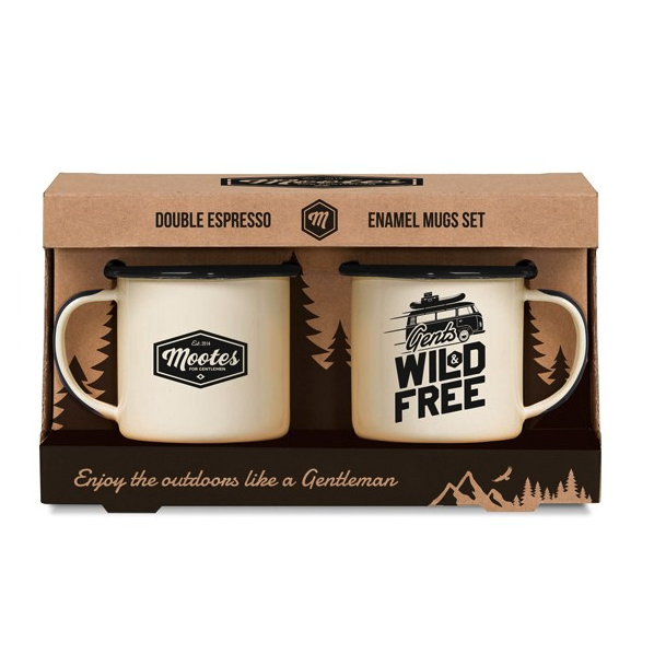 Mootes Mootes, double Espresso Tassen, Emaille