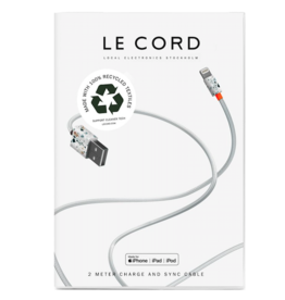 Le Cord LeCord, Ghost Net 2.0, 2 Meter, grey multi