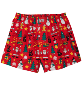 Lousy Livin Lousy Livin, Boxer Christmas Night, red, L