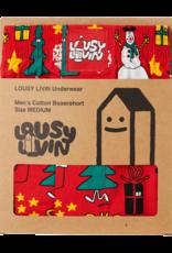 Lousy Livin Lousy Livin, Boxer Christmas Night, red, XL