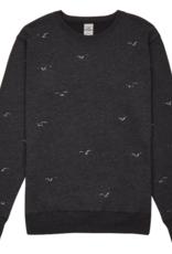 Cleptomanicx Cleptomanicx, Crewneck Flock Off, phantom black, XL