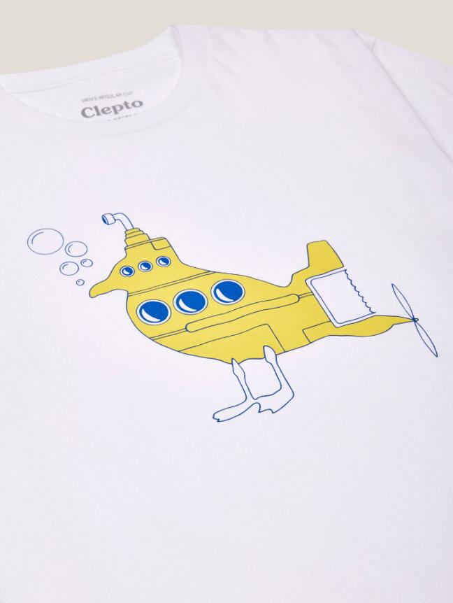Cleptomanicx Cleptomanicx, Basic Tee Uboot Gull, white, XL