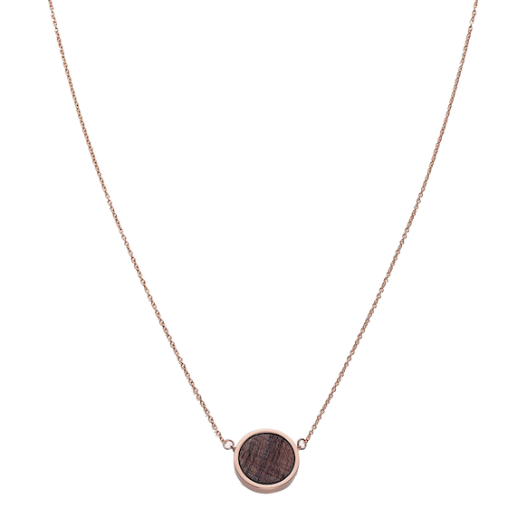 Kerbholz Kerbholz, Circle Necklace, rosewood, rosegold
