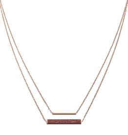 Kerbholz Kerbholz, Rectangle Necklace, rosewood, rosegold