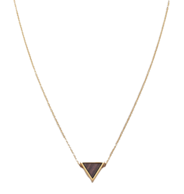 Kerbholz Kerbholz, Triangle Necklace, Sandalwood, gold