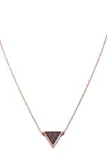 Kerbholz Kerbholz, Triangle Necklace, Sandalwood, rosegold