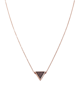 Kerbholz Kerbholz, Triangle Necklace, Sandalwood, rosegold