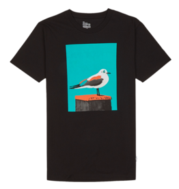 Cleptomanicx Cleptomanicx, Basic Tee Paint Gull, black, XL