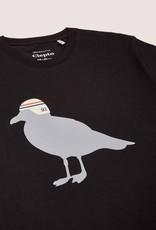 Cleptomanicx Cleptomanicx, Basic Tee Race Gull, black, S
