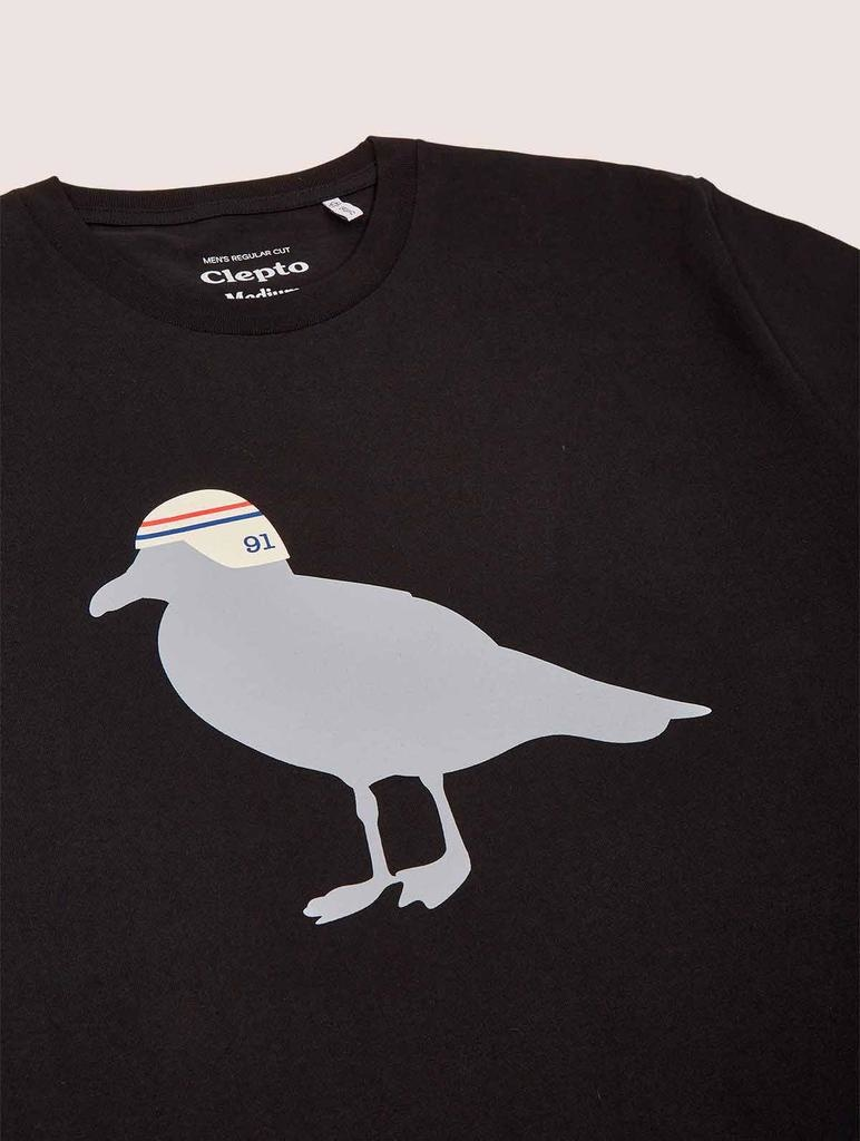 Cleptomanicx Cleptomanicx, Basic Tee Race Gull, black, XL