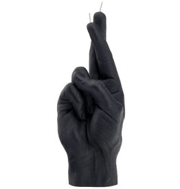 Candle Hand Candle Hand, crossed fingers, black