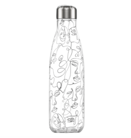 Chilly's Chilly's Bottles, Line Art Edition, faces, 500ml