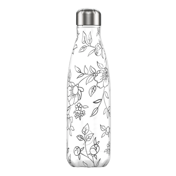 Chilly's Chilly's Bottles, Line Art Edition, flowers, 500ml