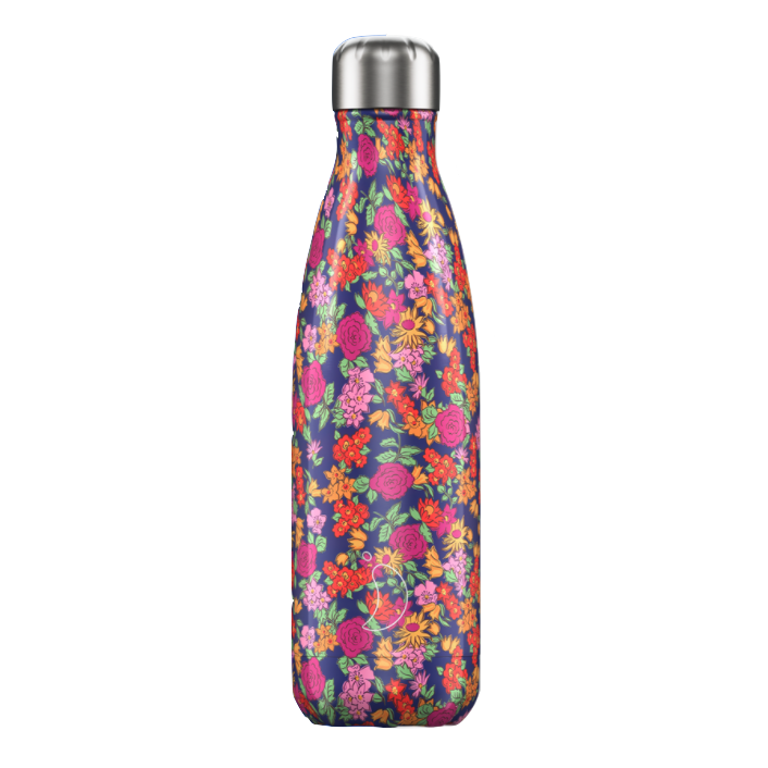 Chilly's Chilly's Bottles, Floral Edition, wild rose, 500ml
