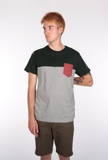 Iriedaily Iriedaily, Block Pocket Tee, silver hunter, XL