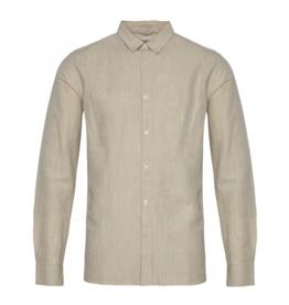 KnowledgeCotton Apparel, Larch Hemd, light feather gray, XL