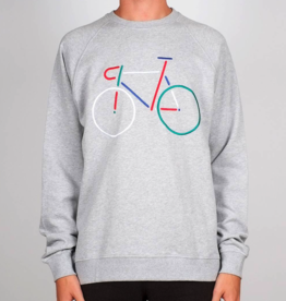 Dedicated Dedicated, Sweatshirt Malmoe Color Bike, Grey melange, M
