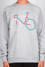 Dedicated Dedicated, Sweatshirt Malmoe Color Bike, Grey melange, L