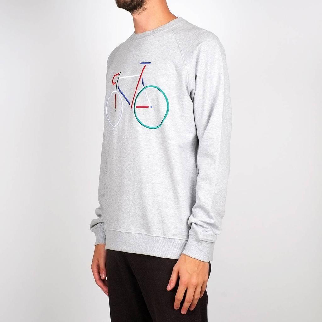 Dedicated Dedicated, Sweatshirt Malmoe Color Bike, Grey melange, XL