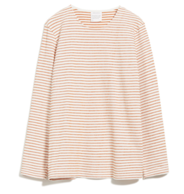 armedangels Armedangels, Jaardy Stripe, off white/dark orange, S