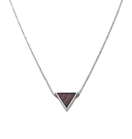 Kerbholz Kerbholz, Triangle Necklace, Sandalwood, silver