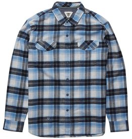Vissla Vissla, Central Coast LS Flannel, blue wash, L