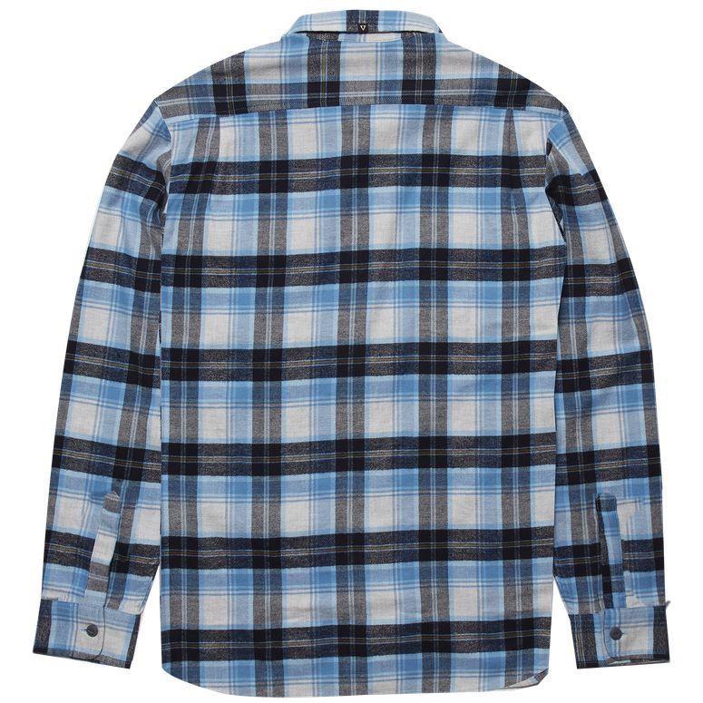 Vissla Vissla, Central Coast LS Flannel, blue wash, XL