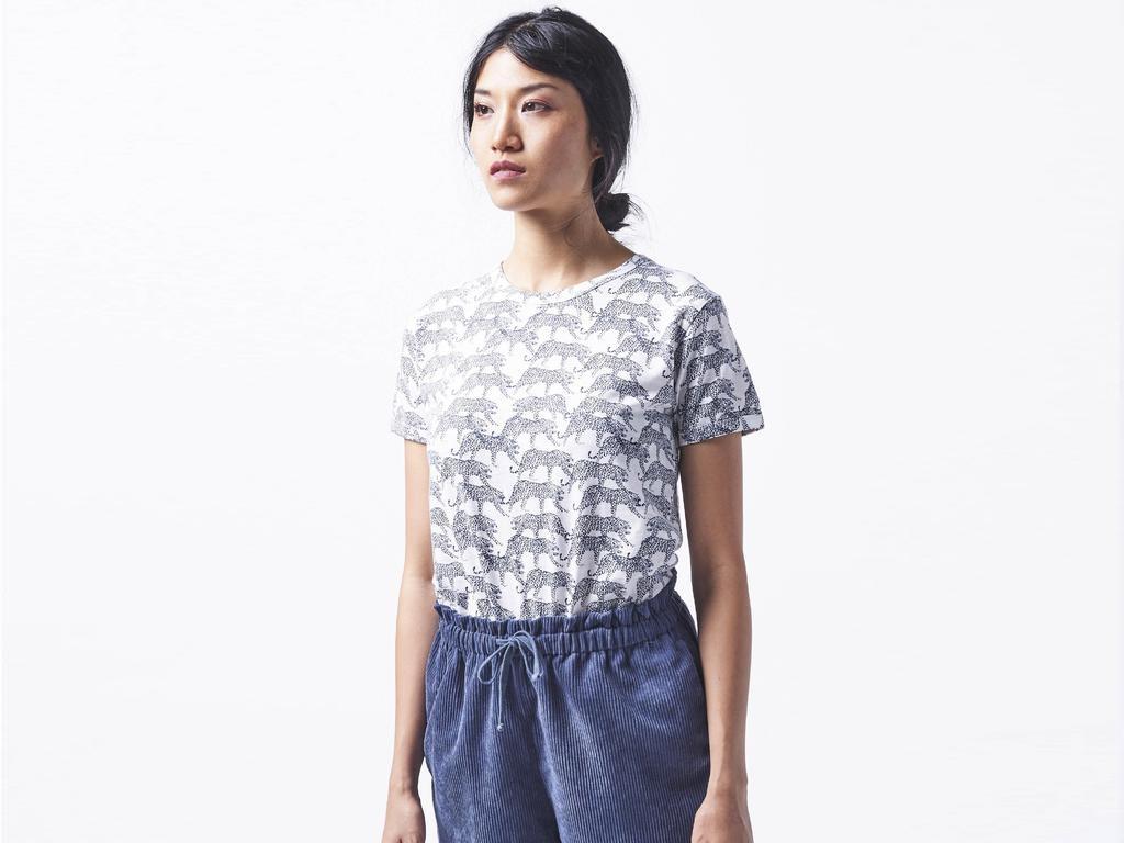 Wemoto Wemoto, Goldie Printed, navy blue/off white, M