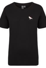 Cleptomanicx Cleptomanicx, Embroidery Gull, black, M
