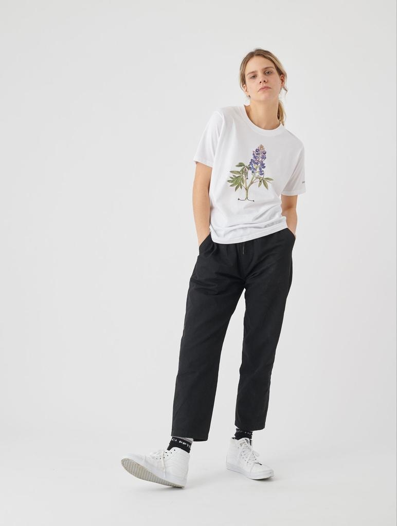 Cleptomanicx Cleptomanicx, T-Shirt, flower smile, white, XS
