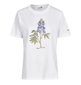 Cleptomanicx Cleptomanicx, T-Shirt, flower smile, white, S