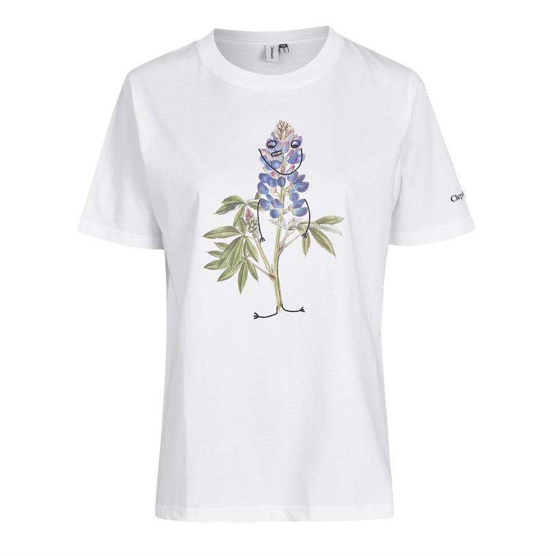 Cleptomanicx Cleptomanicx, T-Shirt, flower smile, white, S