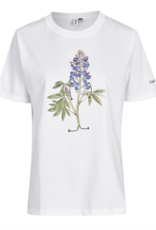 Cleptomanicx Cleptomanicx, T-Shirt, flower smile, white, L