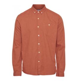 KnowledgeCotton Apparel KnowledgeCotton, Elder flannel shirt, persimmon orange, M