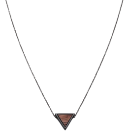 Kerbholz Kerbholz, Triangle Necklace, walnut/black