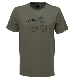 ZRCL ZRCL, M T-Shirt Racoon, olive, XL