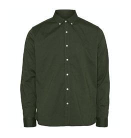 KnowledgeCotton Apparel KnowledgeCotton, Elder oxford shirt, green forest, XL