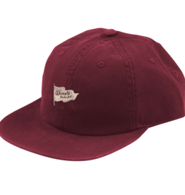 Wemoto Wemoto Cap, Flag Studio Hat, burgundy