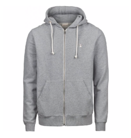 KnowledgeCotton Apparel KnowledgeCotton, Zip Hoodie sweat, grey melange, L