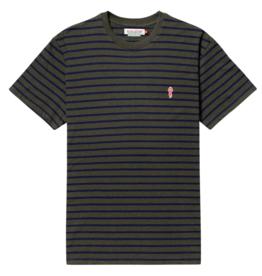 RVLT RVLT, 1056 striped t-shirt, army mel., XL