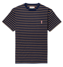 RVLT RVLT, 1056 striped t-shirt, navy-mel., XL