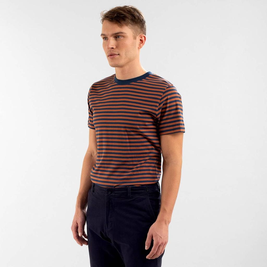Dedicated Dedicated, Stockholm Stripes, mocha brown, L